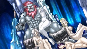 Troll King and his harem
