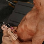 Sublime 3d cutie rides on a kinky rough ogre's cock