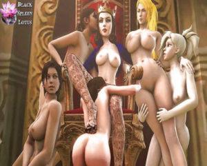 Sexy Elizabeth In Cartoon Collection